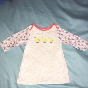 Baby Boden Cotton Chick Dress